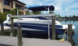 2002 Four Winns Funship, Very Clean 2002 Blue & White Four Winn 23' Funship deck boat with bottom Paint but has been kept on a dock Bravo 4 357 Mag MerCruiser motor installed in 2011-2012 with low hours, Dual S/S prop, Newer bimini, cockpit / bow covers,