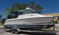 Nice crising boat SMOOTH RIDE along the way. - LOADED Ready for weekend cruising or just hanging out fishing,grilling and chilling .Raymarine gps, Raymarine depth finder Simrad auto pilot, vhf radio,Spot light, Electronic controls,1/2