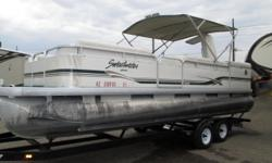 The Godfrey Sweetwater 2423 SC is a pontoon boat designed to accommodate the active lifestyles of the whole family. She's a versatile boat that can be used for skiing, fishing, and cruising. LAKE HAVASU'S ANNUAL NEW AND USED BOAT LIQUIDATION!! Boat