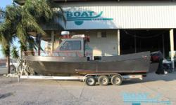 MAKE OFFER 2002 Homemade 29 Aluminum Cabin Cruiser Location: Marrero, LA, US Custom 29' Aluminum Cabin Cruiser Twin Mercury 225 outboards Triple Axle McClain trailer This boat was started in Southeast Louisiana as a shrimp boat but was converted