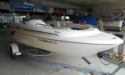 THIS HIDEOUT APPROVED UNIT HAS THE 90 YAMAHA ENGINE, TRAILER AND BOAT COVER, OUR WARRANTY INCLUDED, WILL BE WATER TESTED AT POINT OF SALE ALSO, FIBERGLAS FLOORING, SKI TOW BAR, POWER TILT AND TRIM, GUAGES INCLUDED, FLOOR STORAGE TOO!