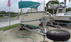 NICE CLEAN LOW PRICED 18 WITH A GREAT ENGINE AND INSIDE KEPT HULL. Beam: 7 ft. 5 in. Hull color: WHITE Stock number: KL1802