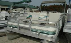 Manitou 20' Osprey 4-Corner Fish If you love to fish with plenty of room to move around, this is the boat for you! One of the most popular fishing pontoons in the industry is the 4-corner fish. As you can see by the pictures this pontoon boat has been