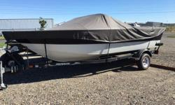 Beam: 8 ft. 0 in. Optional features: Honda 115hp outboard EZ Loader trailer Travel mooring cover Bow cover AM/FM stereo Hummingbird depth finder Stock number: MNX65524K1