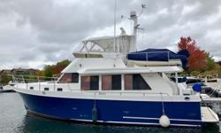 One of a kind 2002 Ocean Alexander Blue water ready Complete upgrade in 2007 2007 survey listed above average condition prior to upgrades Garmin electronics on both stations Garmin Wifi Rear docking camera and engine room monitor Thrusters Hunter douglas