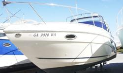 "2002 Rinker 310 Fiesta Vee. She is a wonderful family cruiser and has the biggest beam in her class of 11'4"" and 6'5"" headroom. This is a very affordable and spacious cruiser that has modern styling with a comfortable ride. Just look at her"