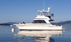"Purchased new in 2002 by its only owner, ""Odyssey II"" is a well maintained example of a space efficient Riviera single cabin layout.  The 36SC (Single Cabin) is a capable cruiser as well as a desirable fishing vessel.   By removing the small"