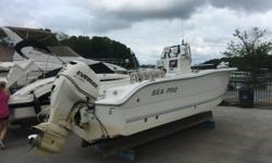 02 Sea Pro 220 center console with 2011 E-etc 225 outboard. 1100 hours on engine. Performance tandem axle trailer Former fishing pro boat. Great electronics, trolling motor. Hin: PIOEH161e202 Draft: 2 ft. 0 in. Beam: 8 ft. 6 in. Fuel tank capacity: 65