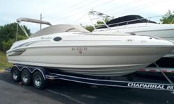 2002 Sea Ray 240 Sun Deck 8 Person Capacity, Bimini Top, Stereo, Large Swim Platform, Plenty of Seating, Great for pulling a Tuber or Water Skier! Stock number: R1382