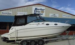 Sea Ray 260 Sundancer on the Pensacola Florida Gulf Coast The Sea Ray 260 Sundancer has the sleek good looks and high-caliber performance expected from a larger, more expensive cruiser. It offers a luxurious cabin that sleeps four and is packed with