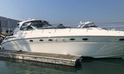 Recently buffed/waxed and bottom painted. This 510 has sea mat flooring in the cockpit and hardwood floors throughout the salon. Upgraded audio and visual, and plenty of room for your next group outing or just the family. Come view today. Trades