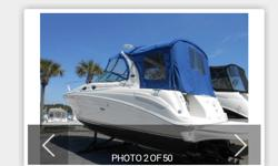 2002 Sea Ray Sundancer 300. 33 Feet LOA. Been dry stored it?s entire life and it shows. Very well maintained. Owner is very meticulous. Shows like new. New Risers, manifolds and elbows 10/12, New outdrive 2015, New props in 2015 to increase performance.