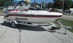 2002 SEA DOO 1800 CHALLENGER JET BOAT WITH TRAILER! What an awesome 18? water sports machine! This SeaDoo package is in MINT condition and completely water ready! The boat is powered by a powerful 210hp Mercury V6 EFI engine plant with less than 120 hrs!