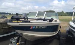 Mercury 50 #UMERC8289 & Shorelander SMU 15 trailer #USHT7076