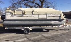 Mercury 60hp 4S, Shorelander Trailer, playpen cover, bimini Boat cover; Bimini top;