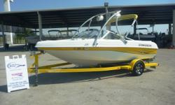 2002 STARDECK 1910, This Stardeck is ready for fun on the water. Features a rebuilt Volvo 135 Hp I/O, wakeboard tower, tower speakers, bimini top, extended aft swim platform, and trailer with mag wheels & spare. Won't last long at this price with a new