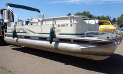 22' Suncruiser Trinidad with 70hp Yamaha 2 stroke outboard motor. Tandem axle bunk style trailer also available for additional $2,000.00. Beam: 8 ft. 0 in.