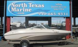 """2002 TAHOE Q5, The perfect boat for the young family and the young at heart. It's size (19'5"""") makes it easy to tow, easy to launch and easy to store. It comes equipped with a Mercury 4.3 liter making 190 HP, which is more than enough to get those water"""