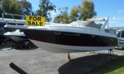 This 2002 Formula 31 PC has twin 6.2 Mercruiser V8 with Bravo III outdrives. This truly is a performance cruiser with excellent handling and smooth ride. It is a great weekend boat with the generator and AC that blows very cold and sleeping for up to 6.
