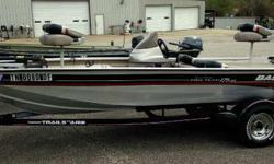 USED 2002 TRACKER PT175 THIS IS A NICE USED 2002 TRACKER PT175 WITH A 75HP MERCURY ENGINE AND TRAILER. THE BOAT INCLUDES NEARLY A NEW MINNKOTA EDGE TROLLING MOTOR, SPARE TIRE, AND SST PROP. Engine(s): Fuel Type: Gas Engine Type: Other Stock number: