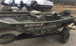Excellent condition. Ready for the water! Will separate boat and motor if desired. Speak with Jesse for pricing.  Nominal Length: 12'