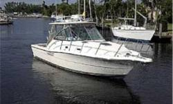 This 2003 Pursuit 3000 Express is truly in excellent condition, powered by twin inboard 320 HP Gas Crusader Captains Choice 5.7 MPI engines, with just over 400 hours on them.  She is a high-end express, with best-in-class construction, and excellent