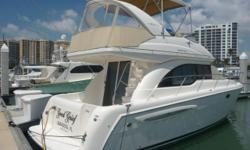 2003 Meridian 341 Sedan Bridge with only 330 hours! A few of the notable options include: Raymarine C80, Lowrance LC X-15MT, Raymarine 52 DSC VHF, Raymarine ST40 depth finder, Kohler 10kw generator and more! Shown by appointment only. Stock ID: