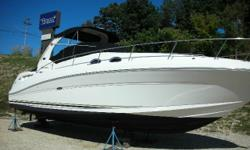 Exceptional 340 Sundancer, fresh water only, always kept in a covered slip. Options include; Twin Mercruiser 8.1 Horizons, 5.0 Kohler Generator, Transom Stereo Remote, Systems Monitor Panel, Tan Dash Gelcoat, Beam Central Vacuum, Stainless Steel