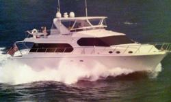 Vessel WalkthroughTOOTSIE is a popular 64 Ocean Alexander. This hull model and design is still current in the Ocean Alexander line-up.The attention to detail is apparent form the moment you enter this vessel.She has a European Transom with boarding gates