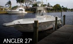 """Actual Location: Ft Myers, FL - Stock #073137 - Nice Boat Loaded! Rigged for offshore Low HoursOverview: Big 27-footer with wide 9'6"""" beam and forward seating--one of the most affordable offshore fishing boats in her class.Owner reports under 400"""