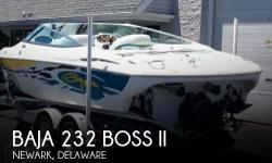 Actual Location: Newark, DE - Stock #112627 - If you are in the market for a high performance, look no further than this 2003 Baja 232 Boss II, priced right at $31,700 (offers encouraged).This boat is located in Newark, Delaware and is in great condition.