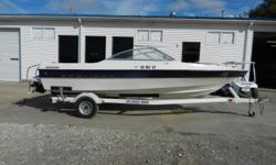 2003 Bayliner 195 BR Classic equipped with Mercruiser 3.0 L 135 hp inboard/outboard motor. Boat includes rear ladder, radio, cover, Hummingbird Piranha 1 depth finder at dash and single axle trailer. 7 person capacity. Please call before coming to view as