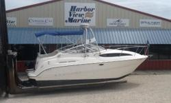 2003 BAYLINER 245 Sunbridge Cruiser on the PENSACOLA,FL/ORANGE BEACH,AL Gulf Coast Equipped with everything needed for immediate cruising. A clean boat equipped with a/c, Honda generator, radar, 300hp Mercruiser 350 Magnum V8 Duoprop, Galley,