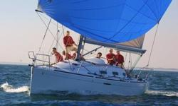 It won't take long to see that this boat has been maintained and sailed by a knowledgeable and experienced owner. The condition of the boat belies its age, with a new engine, interior that shows well, new sails, and the cockpit set up for competitive