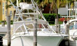 (LOCATION: Miami Beach FL) The Carolina Classic 35 is a handsome express that combines top shelf fishing and cruising. Enclosed helm, large well-equipped cockpit, and upscale cabin make her an all-around fisherman/cruiser. The helm features hardtop
