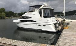 100% Fresh Water Boat Since New 750 Hours on her twin Mercruiser 8.1's 190 Hours on her Kohler Generator Bow Thruster New Outdoor Carpet Upgraded Head If you are in the market for a Carver 396 that is well equipped, low hours, and by far the nicest