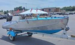 1954 Feathercraft Vagabond This is a very nice vintage 1954 Feathercraft Vagabond boat Made from a B-29 Aluminum Wing by Boeing Wing Mechanics after WWII She is the one with double Bulk Heads and a curved Rearend! A real Runabout model from a Bygone-Era