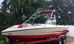 Awesome wakeboard/wake surf boat at a bargain price - low hours - excellent condition. See it in our showroom today! Trades considered. ELECTRICAL BATTERY (2) BATTERY SWITCH STOCK# B15485 TRAILER 2 AXLE-TRAILER BRAKE-TRAILER BUNK TRAILER SPARE