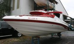 JUST IN! This dealer maintained local freshwater Lake Winnipesaukee boat. Powered with sporty and economical Volvo Penta  5.0L GL SX (220hp). This boat has spent its history, stored indoors in our valet service, and it shows.  Options Include:
