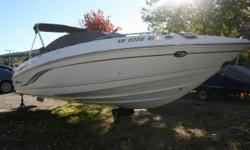 This Chaparral 22/ft bowrider, is the used Winnipesaukee bowrider you are looking for. It is powered up right with its Volvo Penta 5.0 GXi/SX 270 HP motor, (165 hours) and fitted with nice layout and options to make it a great used family runabout. Extras