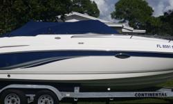 2003 Chaparral 235 SSI, This is a wonderful boat to take out on the Gulf and enjoy the day. 2003 chaparral 23' cuddy cabin 235 SSI Blue and white Very clean boat. Just waiting to go out. Very will kept. Wonderful seating for the friends and family. Has a