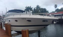 This 36 Cobalt is priced to sell, Owner moving up. Twin extremely reliable and well maintained MerCruiser 496 Mag engines with Bravo III Sterndrives. Windlass Anchor, Generator, A/c and Hot Water. The cockpit is a study in comfort and convenience with
