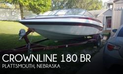 Actual Location: Plattsmouth, NE - Stock #084966 - If you are in the market for a bowrider boat, look no further than this 2003 Crownline 180 BR, just reduced to $13,500.This boat is located in Plattsmouth, Nebraska and is in great condition. She is also