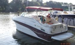 2003 Crownline Boats 262 CR Possibly the cleanest boat of its vintage in the mid-Atlantic 26 cruiser with full galley Full head with shower and sink Fresh water system with water heater Full gauge cluster with back lit gauges Extended swim platform with