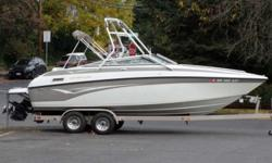 2003 Crownline 230 Open Bow With Custom Tower Now only $24,995 blowout. One of the best boats Crownline ever produced is this great 230 sport seating runabout with economical 5.7 Litre MPI 8-cylinder rated at 280 HP. This boat is fun and economical to