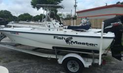 2003 FISHMASTER 1960 THIS PACKAGE INCLUDES A 2003 FISHMASTER 1960 WITH A SUZUKI 4-STROKE 140HP ENGINE AND AN ALUMINUM TRAILER. THE OPTIONS INCLUDE: BIMINI TOP LOWRANCE GPS MINNKOTA 74LB THRUST TROLLING MOTOR BOAT COVER FISHING SEAT STAINLESS STEEL