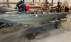 2003 Fisher 16SS is a 16' stick steer boat with Mercury 40 2 stroke. Boat, motor and trailer in good condition and everything working as it should. Original owner traded for new boat. Has a Minn Kota Edge 45 trolling motor just installed, never been in