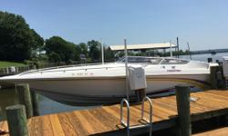 2003 Fountain Powerboats 29 Fever 2003 Fountain Powerboats 29 Fever model in very good condition 29 feet in overall length Sleeps 2 comfortably within as well! The Twin IO 300hp MerCruiser motors have just 267 hours on them They are 350 Mags FI 300hp each