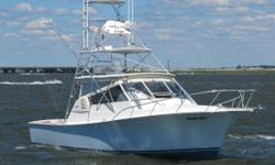 Don't miss a chance to own this custom Jersey built boat with Palm Beach style! Well maintained El Bravo with a beautiful ash interior, teak cockpit AND colored hull! Twin 500 hp Yanmars, Custom Tuna Tower, & Incredible Electronics Package! Henriques' 38