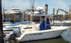 This 2004 Key West 2300 Center Console, for sale in Bridgeport, CT is powered by a 200 hp Yamaha 4-Stroke outboard with just 520 hours. The Key West 2300 CC is perfect for fishing, diving, water sports, or all-around family fun. Extras and updates
